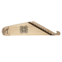 11 string KANTELE with good luck symbol