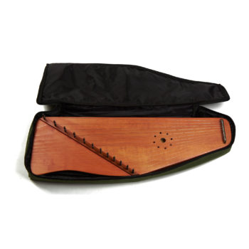 Soft case for 12 string psaltery (green)